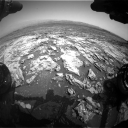 Nasa's Mars rover Curiosity acquired this image using its Front Hazard Avoidance Camera (Front Hazcam) on Sol 1452, at drive 2224, site number 57