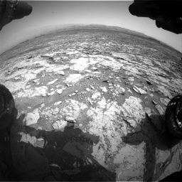 Nasa's Mars rover Curiosity acquired this image using its Front Hazard Avoidance Camera (Front Hazcam) on Sol 1452, at drive 2254, site number 57