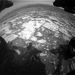 Nasa's Mars rover Curiosity acquired this image using its Front Hazard Avoidance Camera (Front Hazcam) on Sol 1452, at drive 2266, site number 57