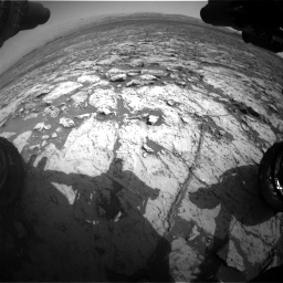Nasa's Mars rover Curiosity acquired this image using its Front Hazard Avoidance Camera (Front Hazcam) on Sol 1452, at drive 2278, site number 57