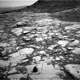 Nasa's Mars rover Curiosity acquired this image using its Left Navigation Camera on Sol 1452, at drive 1954, site number 57
