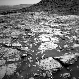 Nasa's Mars rover Curiosity acquired this image using its Left Navigation Camera on Sol 1452, at drive 2026, site number 57