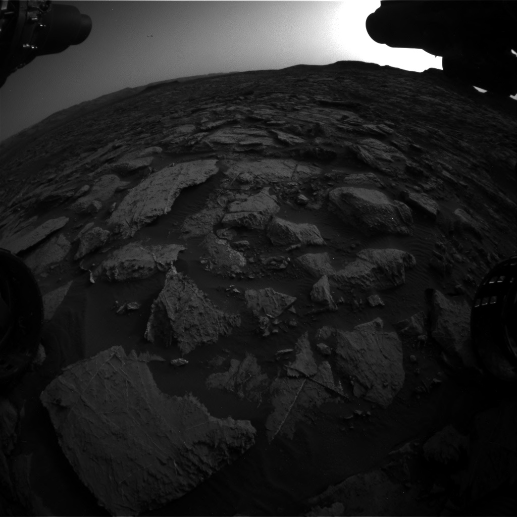 Nasa's Mars rover Curiosity acquired this image using its Front Hazard Avoidance Camera (Front Hazcam) on Sol 1454, at drive 2582, site number 57