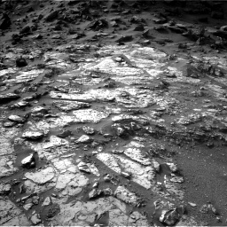 Nasa's Mars rover Curiosity acquired this image using its Left Navigation Camera on Sol 1454, at drive 2392, site number 57