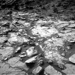 Nasa's Mars rover Curiosity acquired this image using its Left Navigation Camera on Sol 1454, at drive 2422, site number 57