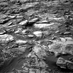 Nasa's Mars rover Curiosity acquired this image using its Left Navigation Camera on Sol 1454, at drive 2500, site number 57