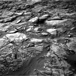 Nasa's Mars rover Curiosity acquired this image using its Right Navigation Camera on Sol 1454, at drive 2506, site number 57