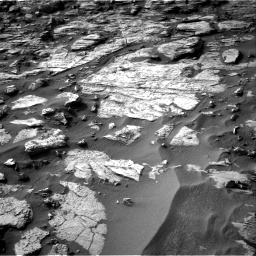 Nasa's Mars rover Curiosity acquired this image using its Right Navigation Camera on Sol 1454, at drive 2530, site number 57