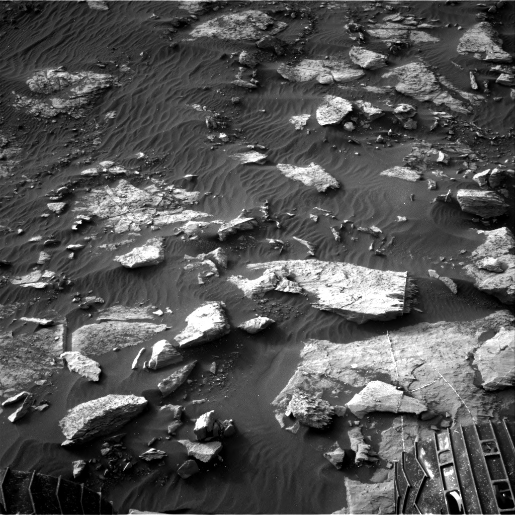 Nasa's Mars rover Curiosity acquired this image using its Right Navigation Camera on Sol 1454, at drive 2582, site number 57