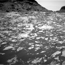 Nasa's Mars rover Curiosity acquired this image using its Left Navigation Camera on Sol 1455, at drive 2618, site number 57