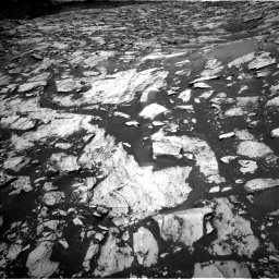 Nasa's Mars rover Curiosity acquired this image using its Left Navigation Camera on Sol 1455, at drive 2660, site number 57