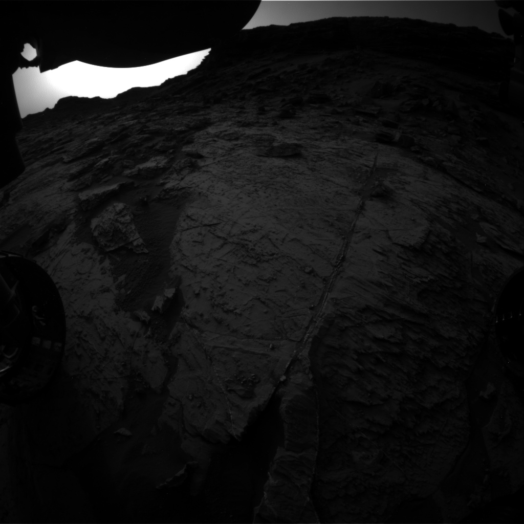 Nasa's Mars rover Curiosity acquired this image using its Front Hazard Avoidance Camera (Front Hazcam) on Sol 1456, at drive 2798, site number 57