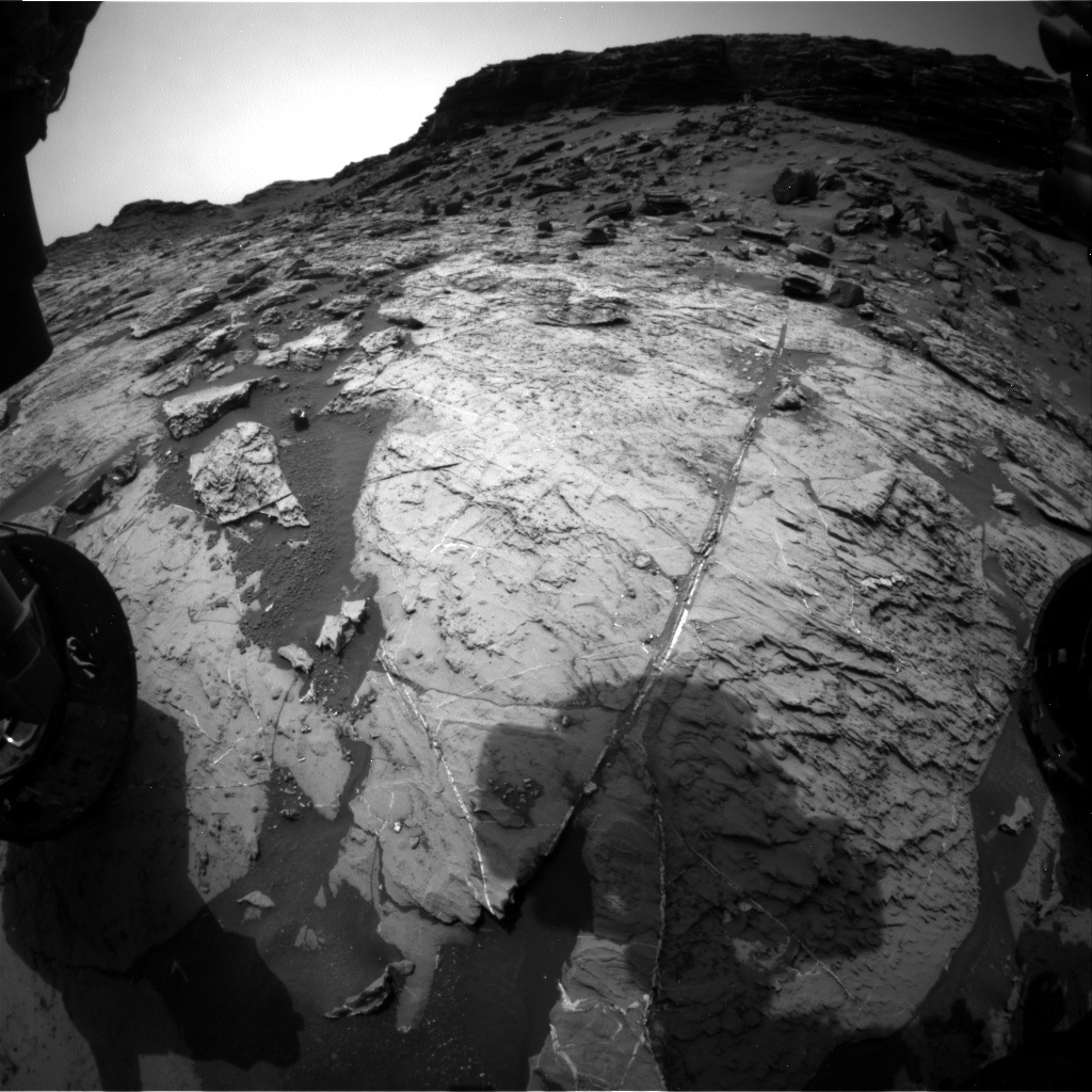NASA's Mars rover Curiosity acquired this image using its Front Hazard Avoidance Cameras (Front Hazcams) on Sol 1460
