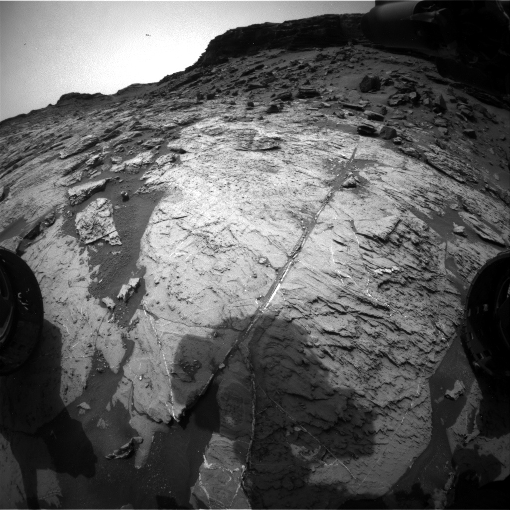 Nasa's Mars rover Curiosity acquired this image using its Front Hazard Avoidance Camera (Front Hazcam) on Sol 1460, at drive 2798, site number 57