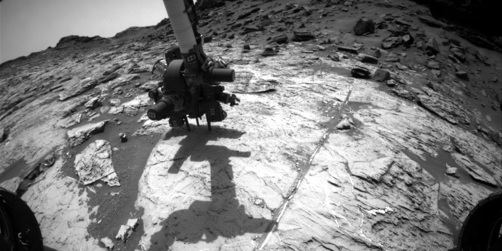Nasa's Mars rover Curiosity acquired this image using its Front Hazard Avoidance Camera (Front Hazcam) on Sol 1461, at drive 2798, site number 57