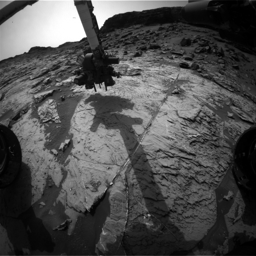 NASA's Mars rover Curiosity acquired this image using its Front Hazard Avoidance Cameras (Front Hazcams) on Sol 1462