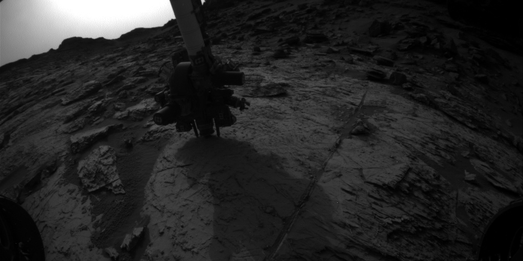 Nasa's Mars rover Curiosity acquired this image using its Front Hazard Avoidance Camera (Front Hazcam) on Sol 1464, at drive 2798, site number 57
