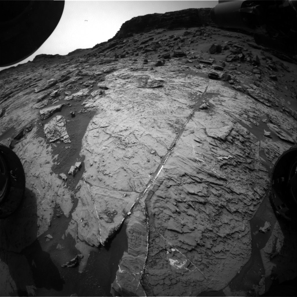 Nasa's Mars rover Curiosity acquired this image using its Front Hazard Avoidance Camera (Front Hazcam) on Sol 1465, at drive 2798, site number 57