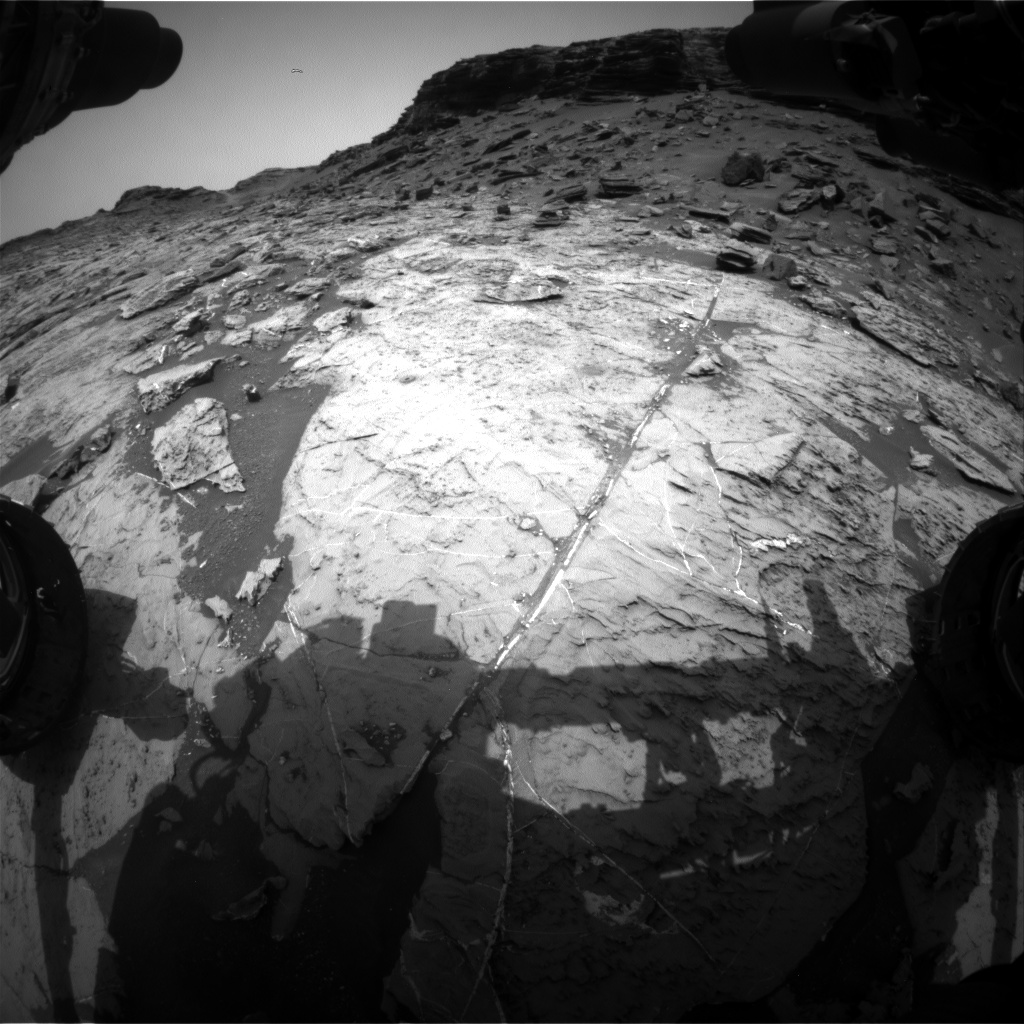 Nasa's Mars rover Curiosity acquired this image using its Front Hazard Avoidance Camera (Front Hazcam) on Sol 1467, at drive 2798, site number 57