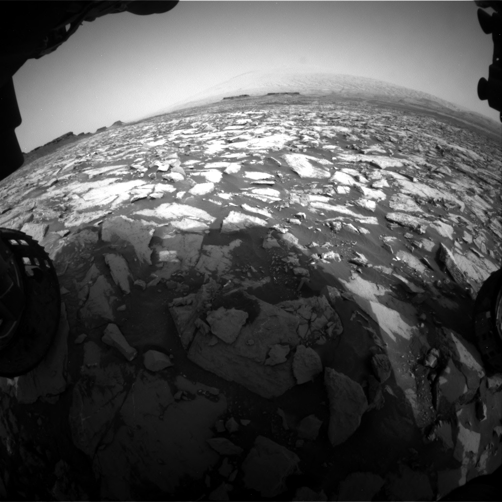 Nasa's Mars rover Curiosity acquired this image using its Front Hazard Avoidance Camera (Front Hazcam) on Sol 1468, at drive 0, site number 58