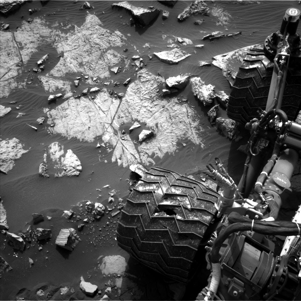 Nasa's Mars rover Curiosity acquired this image using its Left Navigation Camera on Sol 1468, at drive 0, site number 58