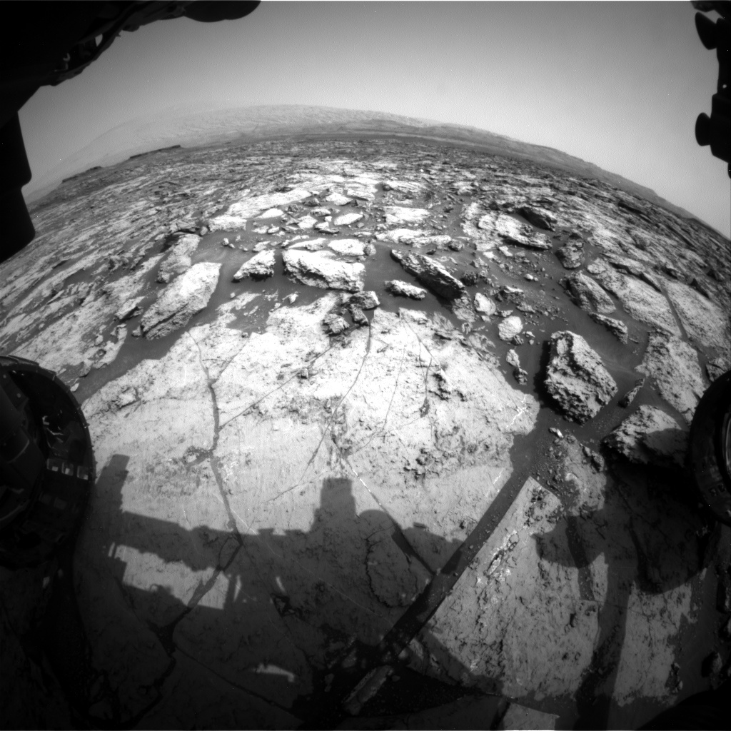 Nasa's Mars rover Curiosity acquired this image using its Front Hazard Avoidance Camera (Front Hazcam) on Sol 1469, at drive 264, site number 58