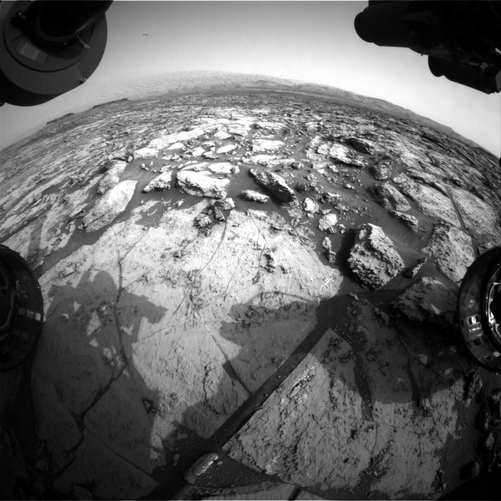 Nasa's Mars rover Curiosity acquired this image using its Front Hazard Avoidance Camera (Front Hazcam) on Sol 1470, at drive 264, site number 58