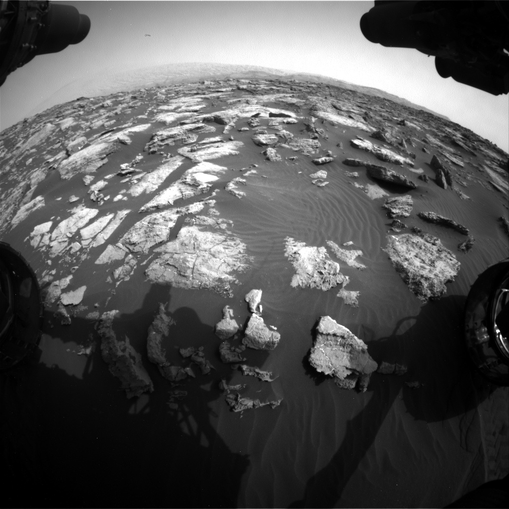 Nasa's Mars rover Curiosity acquired this image using its Front Hazard Avoidance Camera (Front Hazcam) on Sol 1471, at drive 642, site number 58