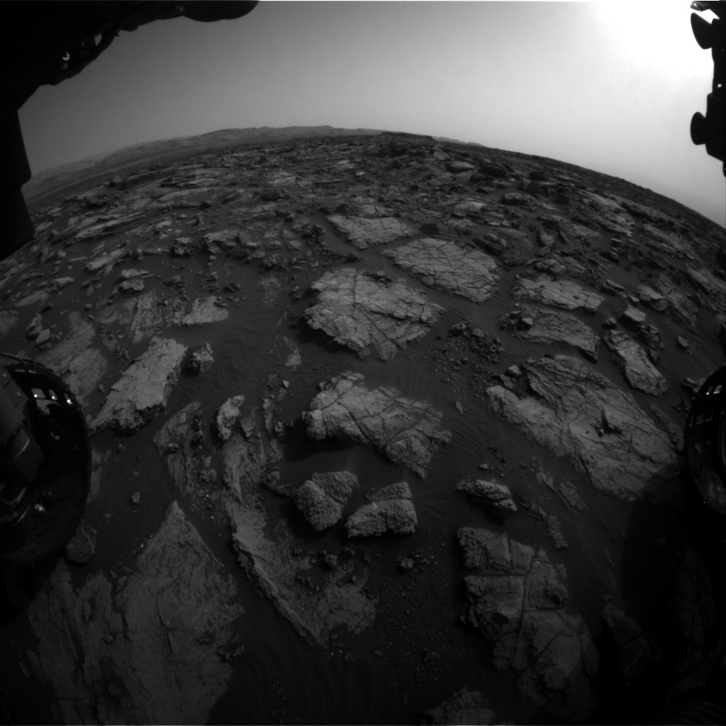 Nasa's Mars rover Curiosity acquired this image using its Front Hazard Avoidance Camera (Front Hazcam) on Sol 1475, at drive 912, site number 58