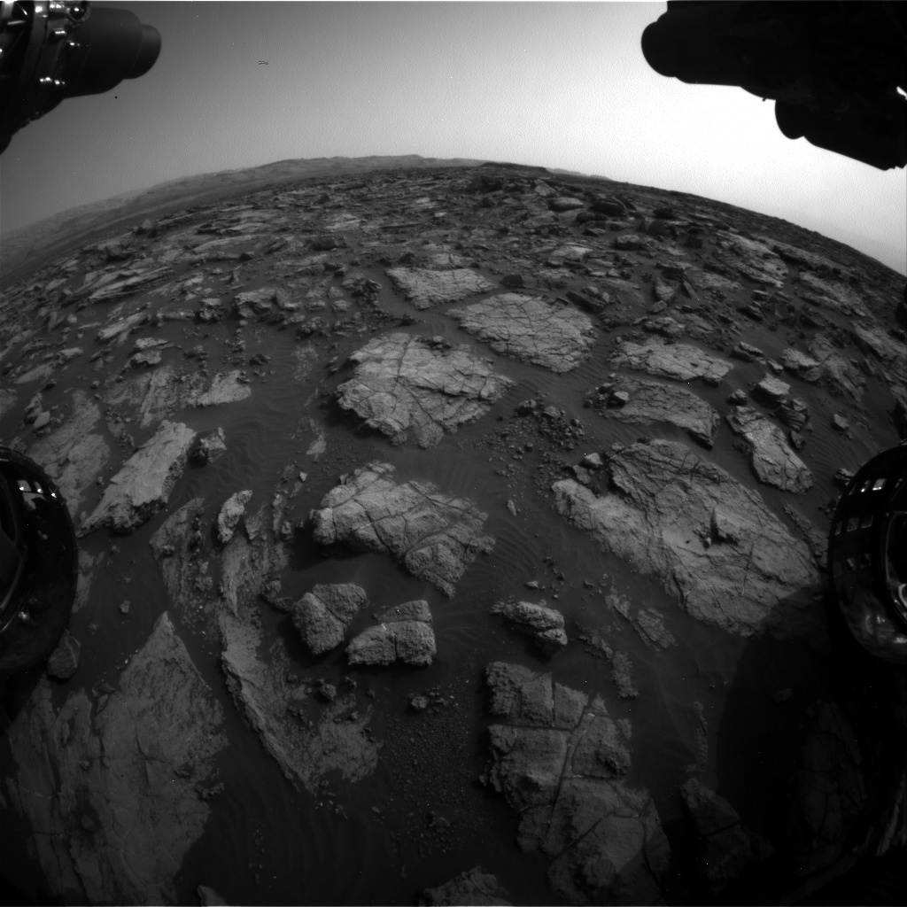 NASA's Mars rover Curiosity acquired this image using its Front Hazard Avoidance Cameras (Front Hazcams) on Sol 1475