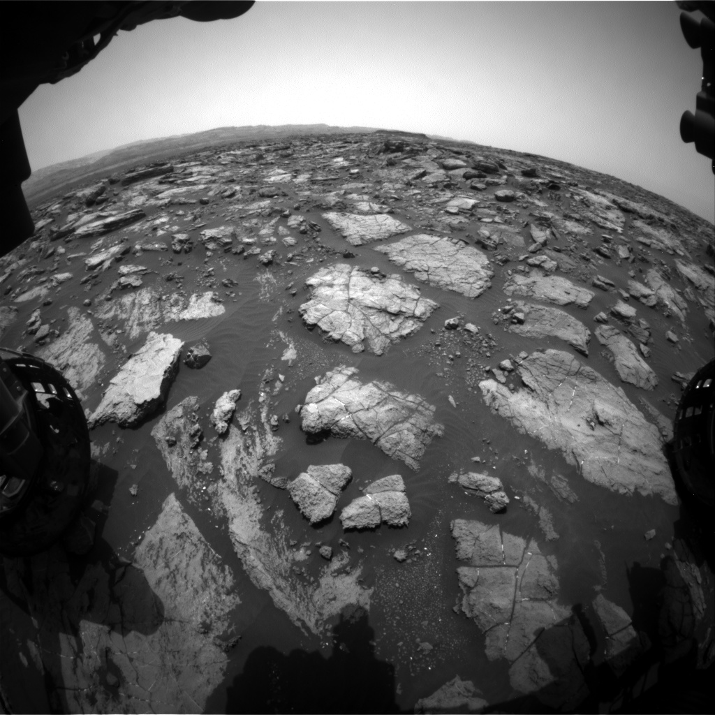 Nasa's Mars rover Curiosity acquired this image using its Front Hazard Avoidance Camera (Front Hazcam) on Sol 1476, at drive 912, site number 58