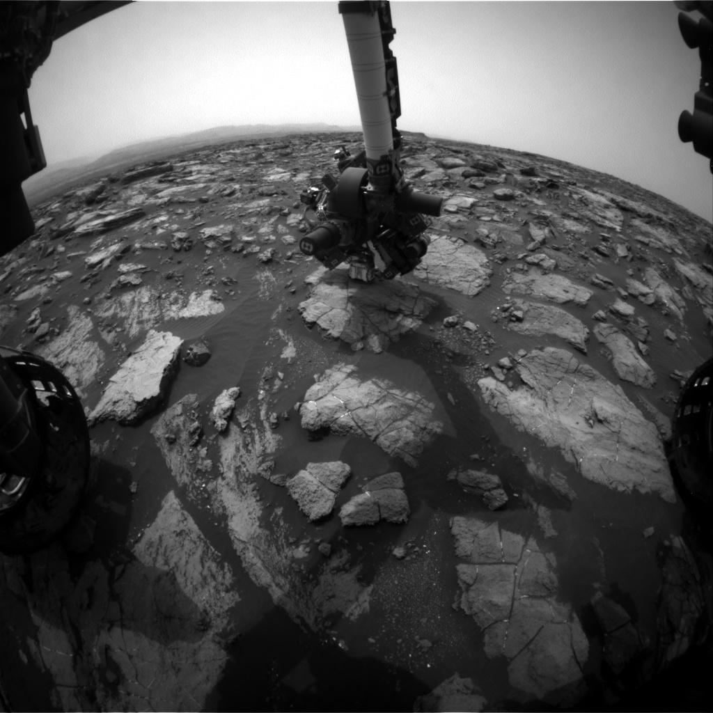 Nasa's Mars rover Curiosity acquired this image using its Front Hazard Avoidance Camera (Front Hazcam) on Sol 1478, at drive 912, site number 58