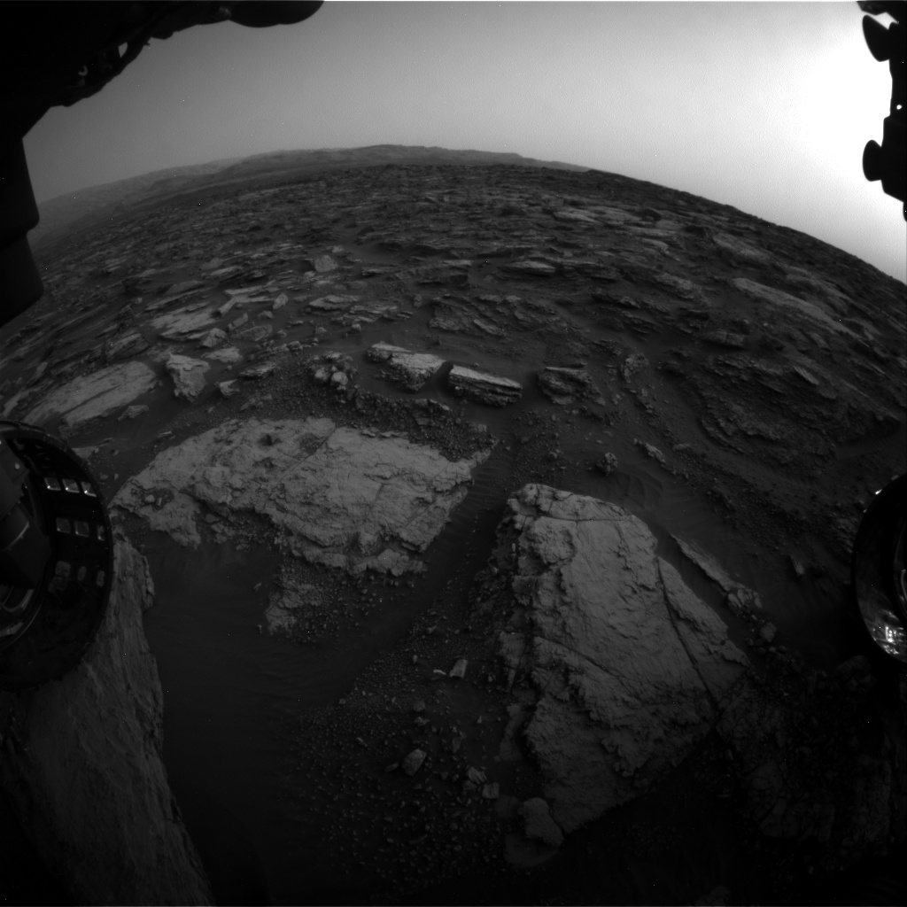 Nasa's Mars rover Curiosity acquired this image using its Front Hazard Avoidance Camera (Front Hazcam) on Sol 1480, at drive 1248, site number 58