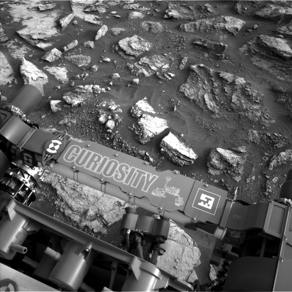 NASA's Mars rover Curiosity acquired this image using its Left Navigation Camera (Navcams) on Sol 1480