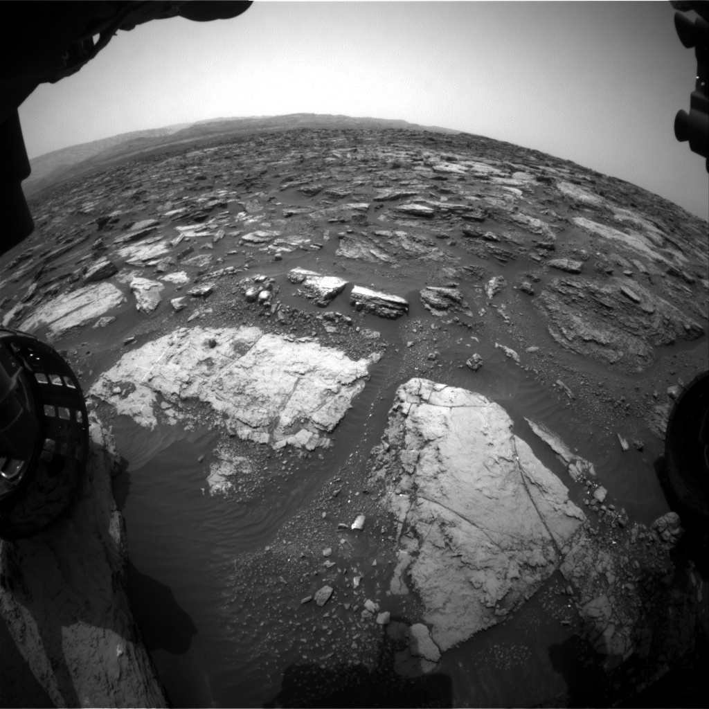 NASA's Mars rover Curiosity acquired this image using its Front Hazard Avoidance Cameras (Front Hazcams) on Sol 1481