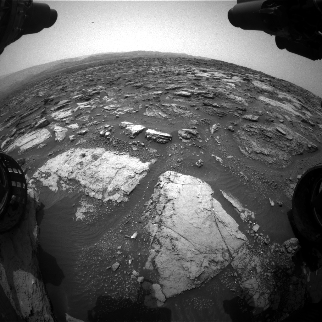 Nasa's Mars rover Curiosity acquired this image using its Front Hazard Avoidance Camera (Front Hazcam) on Sol 1481, at drive 1248, site number 58