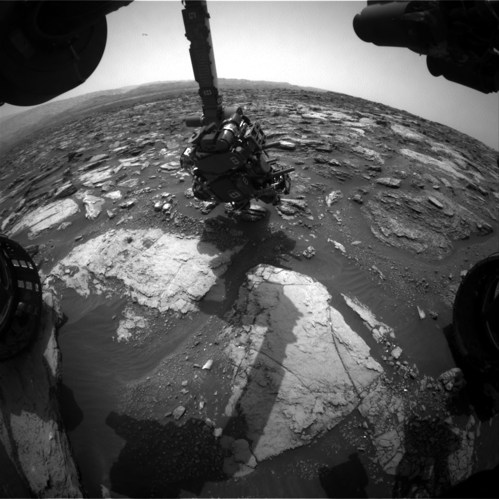 Nasa's Mars rover Curiosity acquired this image using its Front Hazard Avoidance Camera (Front Hazcam) on Sol 1482, at drive 1248, site number 58