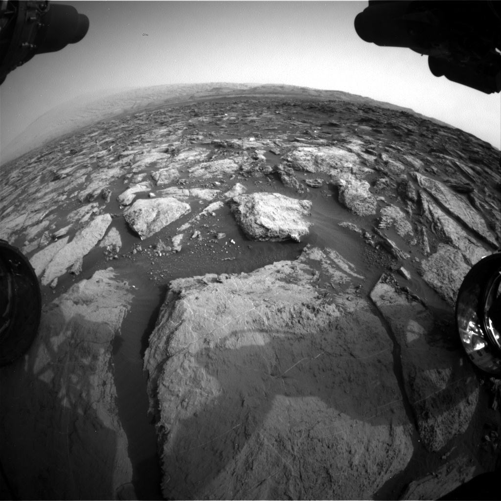 Nasa's Mars rover Curiosity acquired this image using its Front Hazard Avoidance Camera (Front Hazcam) on Sol 1482, at drive 1572, site number 58