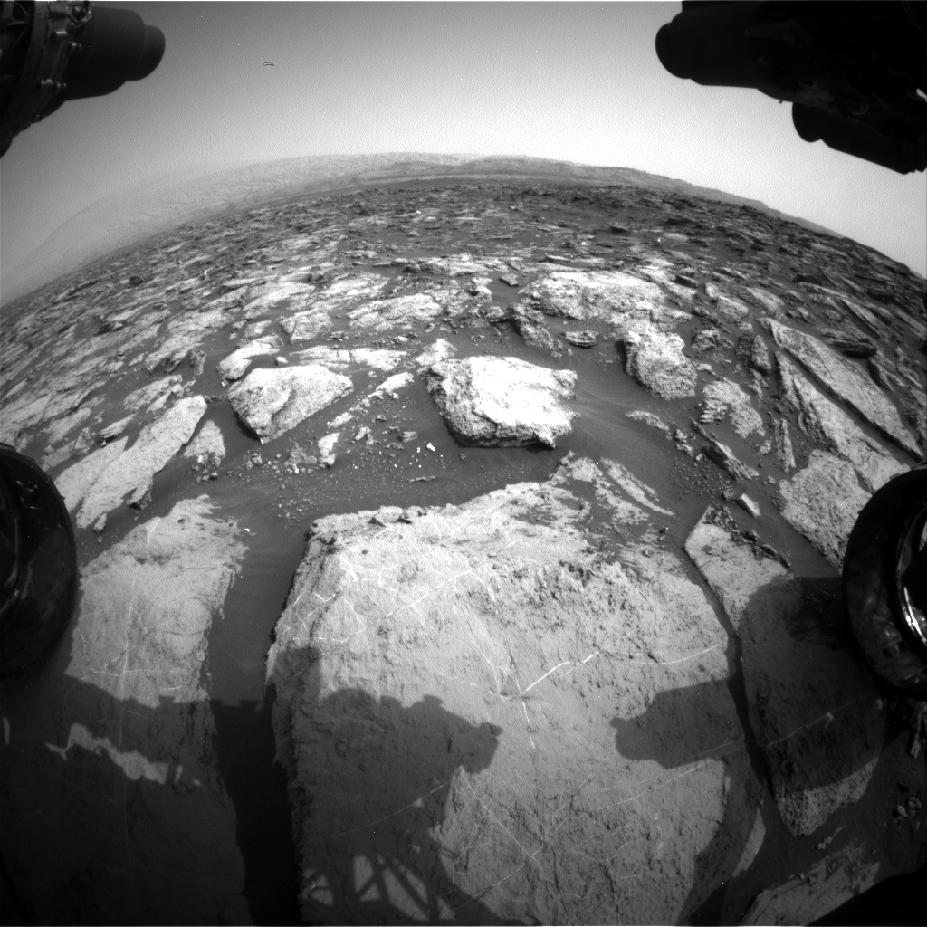 Nasa's Mars rover Curiosity acquired this image using its Front Hazard Avoidance Camera (Front Hazcam) on Sol 1483, at drive 1572, site number 58