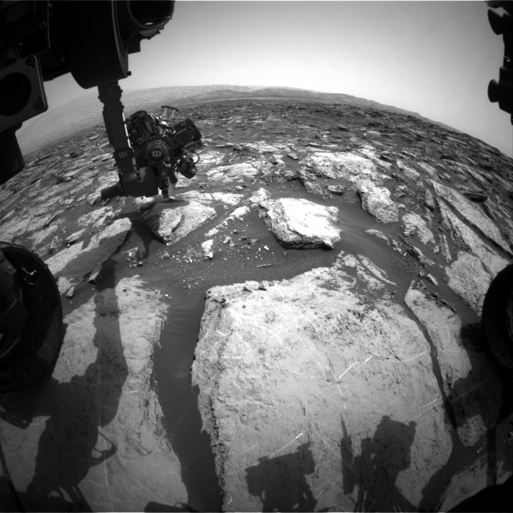 Nasa's Mars rover Curiosity acquired this image using its Front Hazard Avoidance Camera (Front Hazcam) on Sol 1484, at drive 1572, site number 58