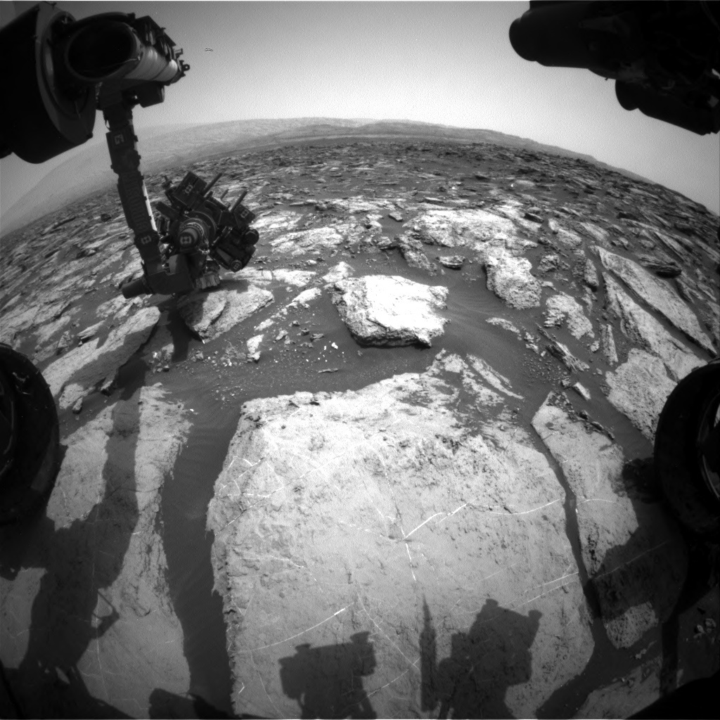 NASA's Mars rover Curiosity acquired this image using its Front Hazard Avoidance Cameras (Front Hazcams) on Sol 1484
