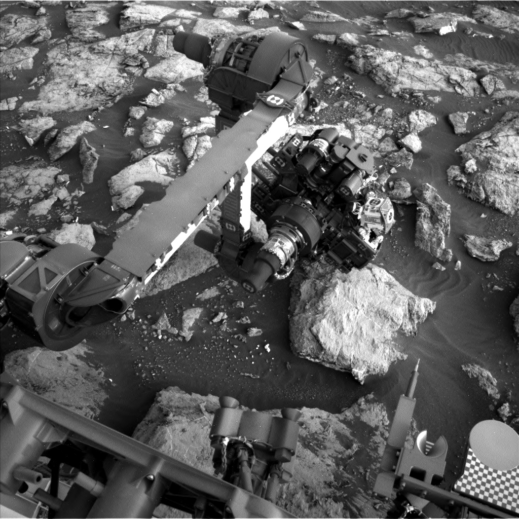 Nasa's Mars rover Curiosity acquired this image using its Left Navigation Camera on Sol 1484, at drive 1572, site number 58