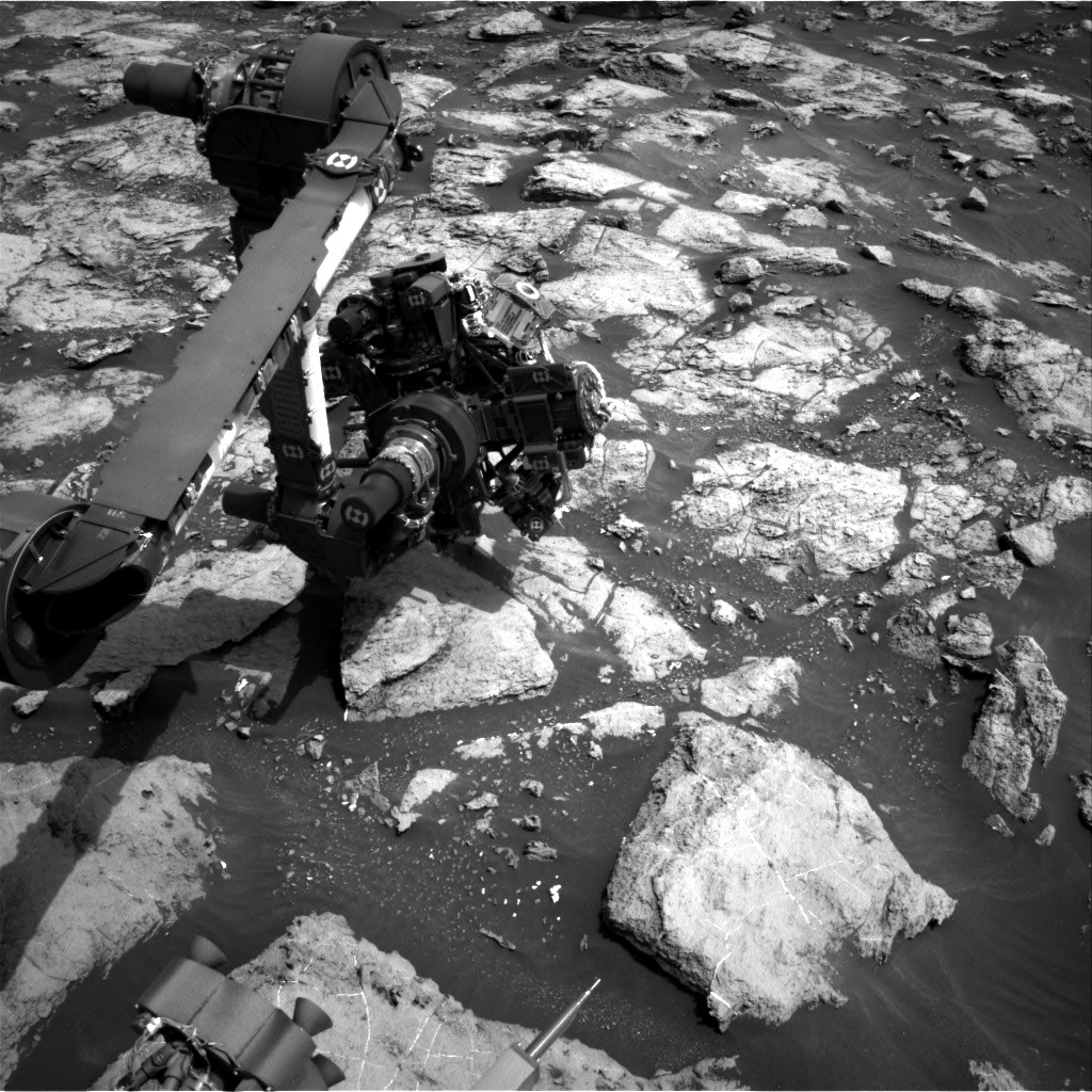 NASA's Mars rover Curiosity acquired this image using its Right Navigation Cameras (Navcams) on Sol 1484