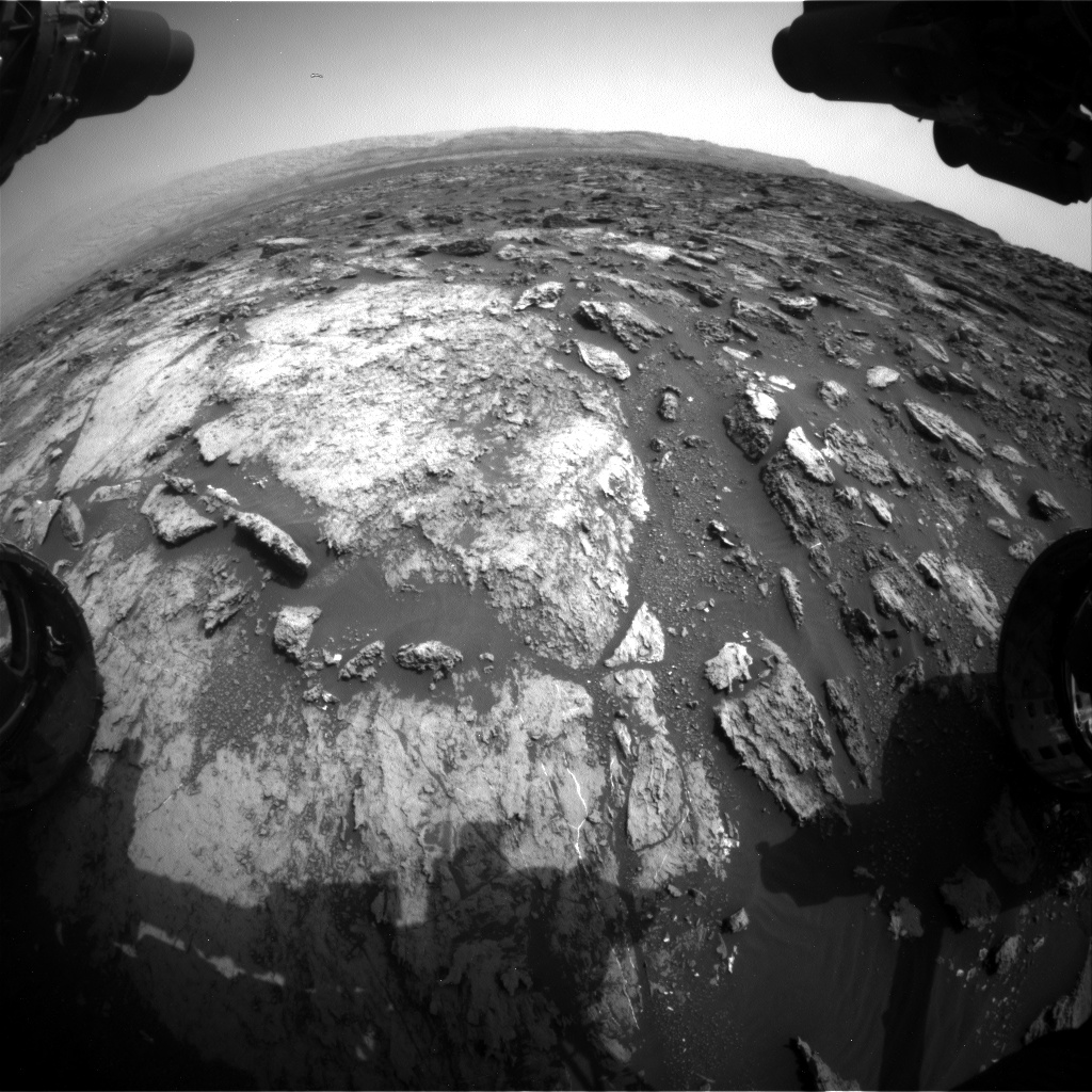 Nasa's Mars rover Curiosity acquired this image using its Front Hazard Avoidance Camera (Front Hazcam) on Sol 1485, at drive 1836, site number 58