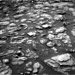 Nasa's Mars rover Curiosity acquired this image using its Left Navigation Camera on Sol 1485, at drive 1824, site number 58
