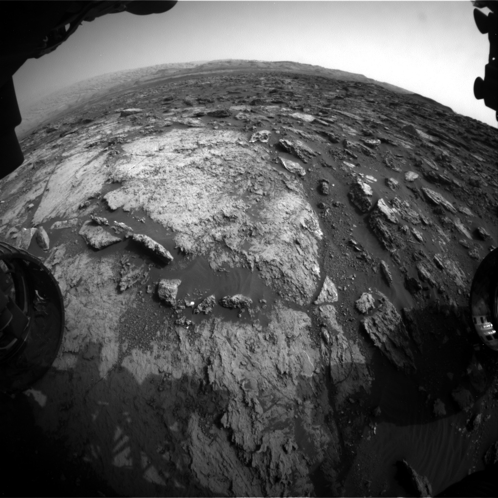 Nasa's Mars rover Curiosity acquired this image using its Front Hazard Avoidance Camera (Front Hazcam) on Sol 1486, at drive 1836, site number 58