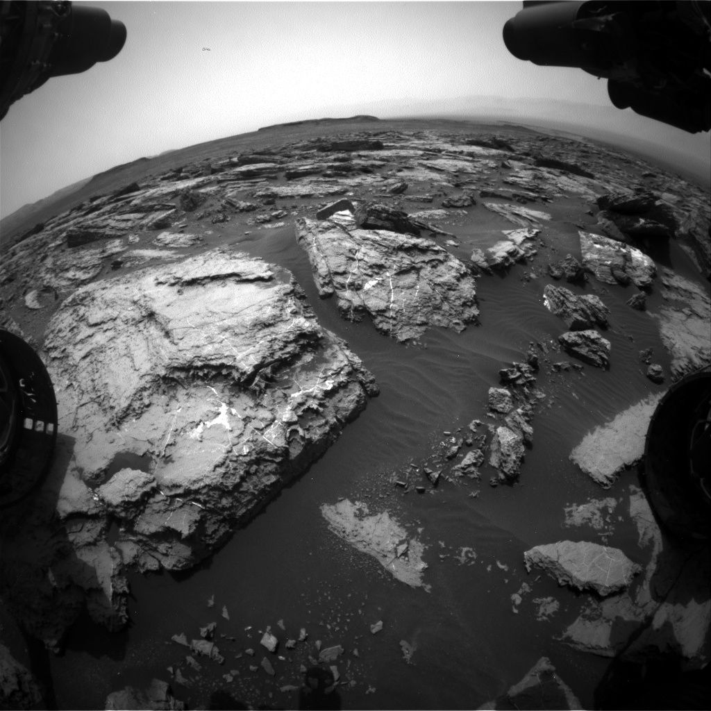 Nasa's Mars rover Curiosity acquired this image using its Front Hazard Avoidance Camera (Front Hazcam) on Sol 1487, at drive 1986, site number 58