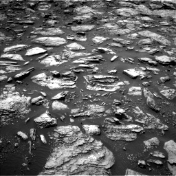 Nasa's Mars rover Curiosity acquired this image using its Left Navigation Camera on Sol 1487, at drive 1836, site number 58