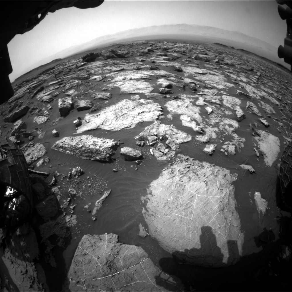 Nasa's Mars rover Curiosity acquired this image using its Front Hazard Avoidance Camera (Front Hazcam) on Sol 1489, at drive 2034, site number 58