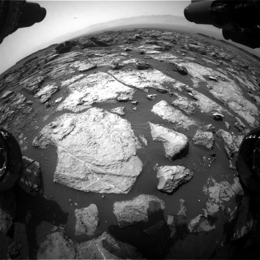 Nasa's Mars rover Curiosity acquired this image using its Front Hazard Avoidance Camera (Front Hazcam) on Sol 1489, at drive 2046, site number 58